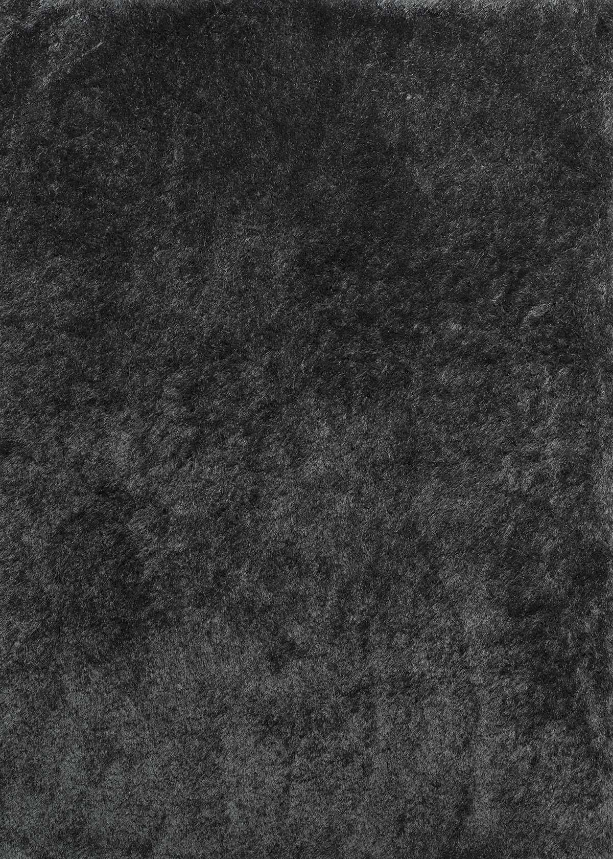 "63"" x 86"" Dark Grey Polyester Area Rug"
