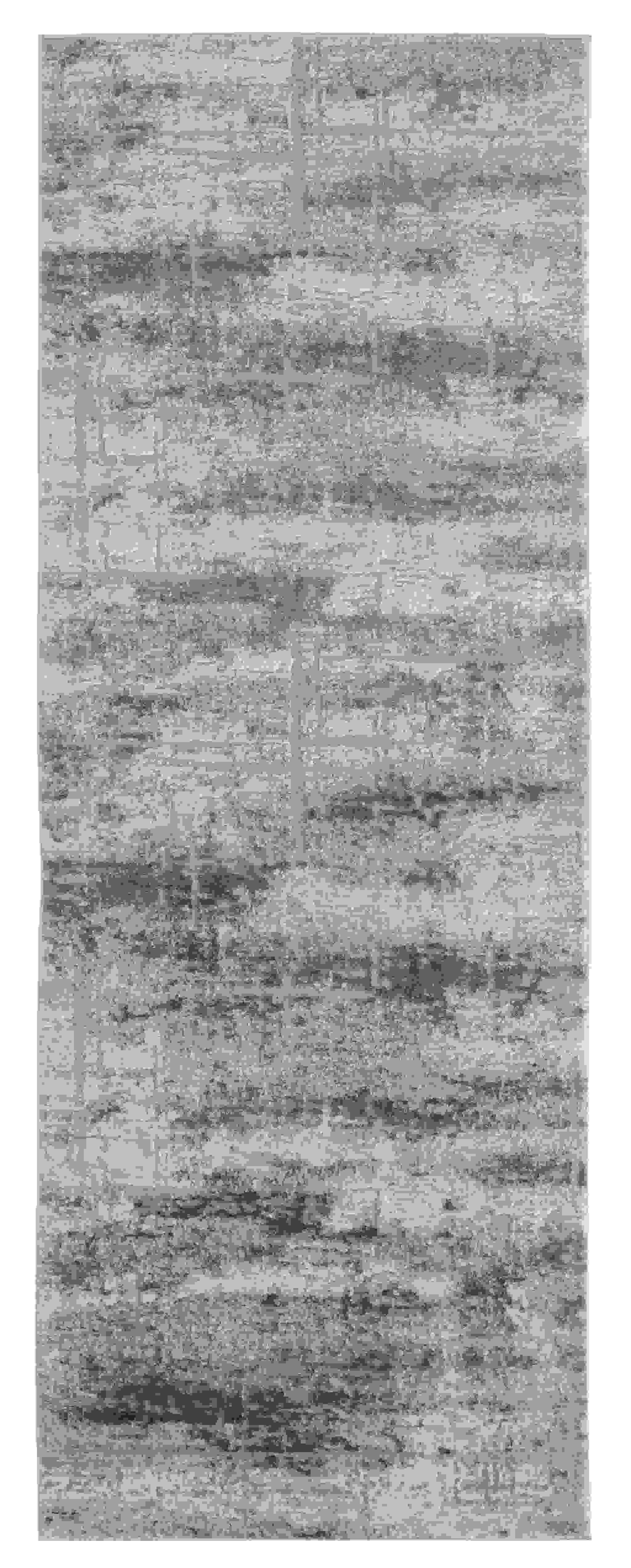 "31"" x 86"" Grey Polyester / Olefin Runner Rug"