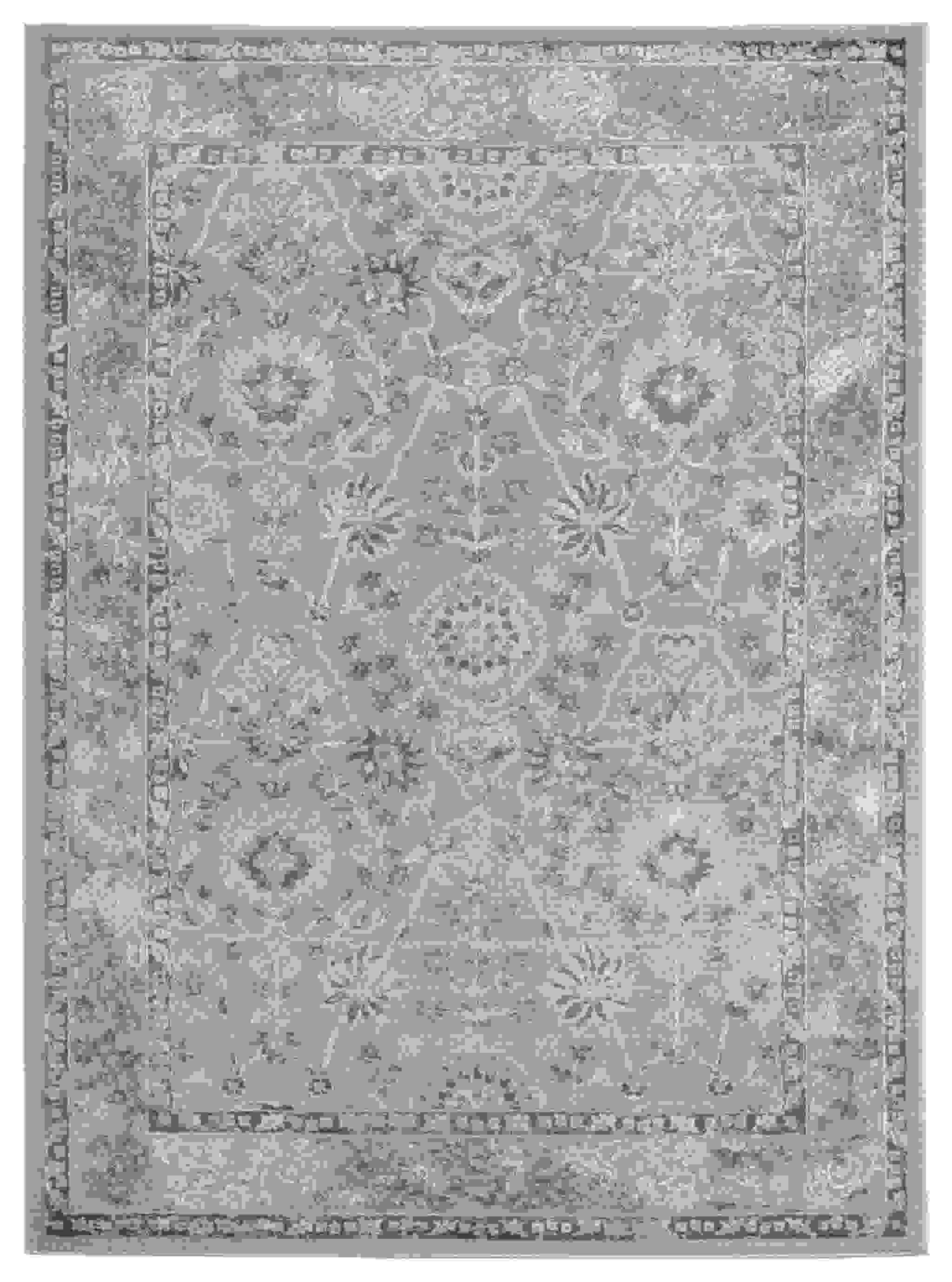 "94"" x 126"" Grey Polyester / Olefin Area Rug"