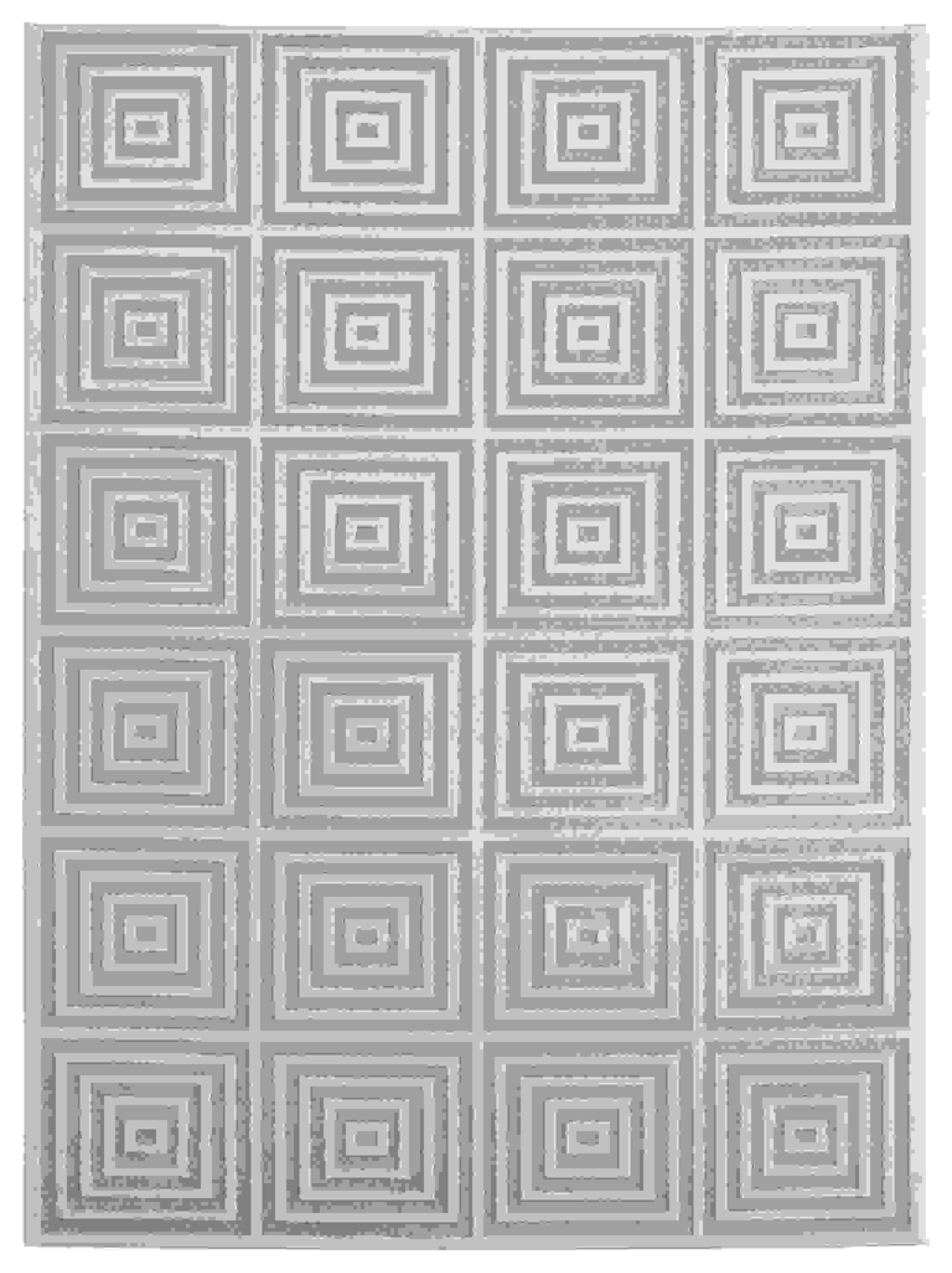 """63"""" x 86"""" Sand Polyester / Olefin Area Rug"""