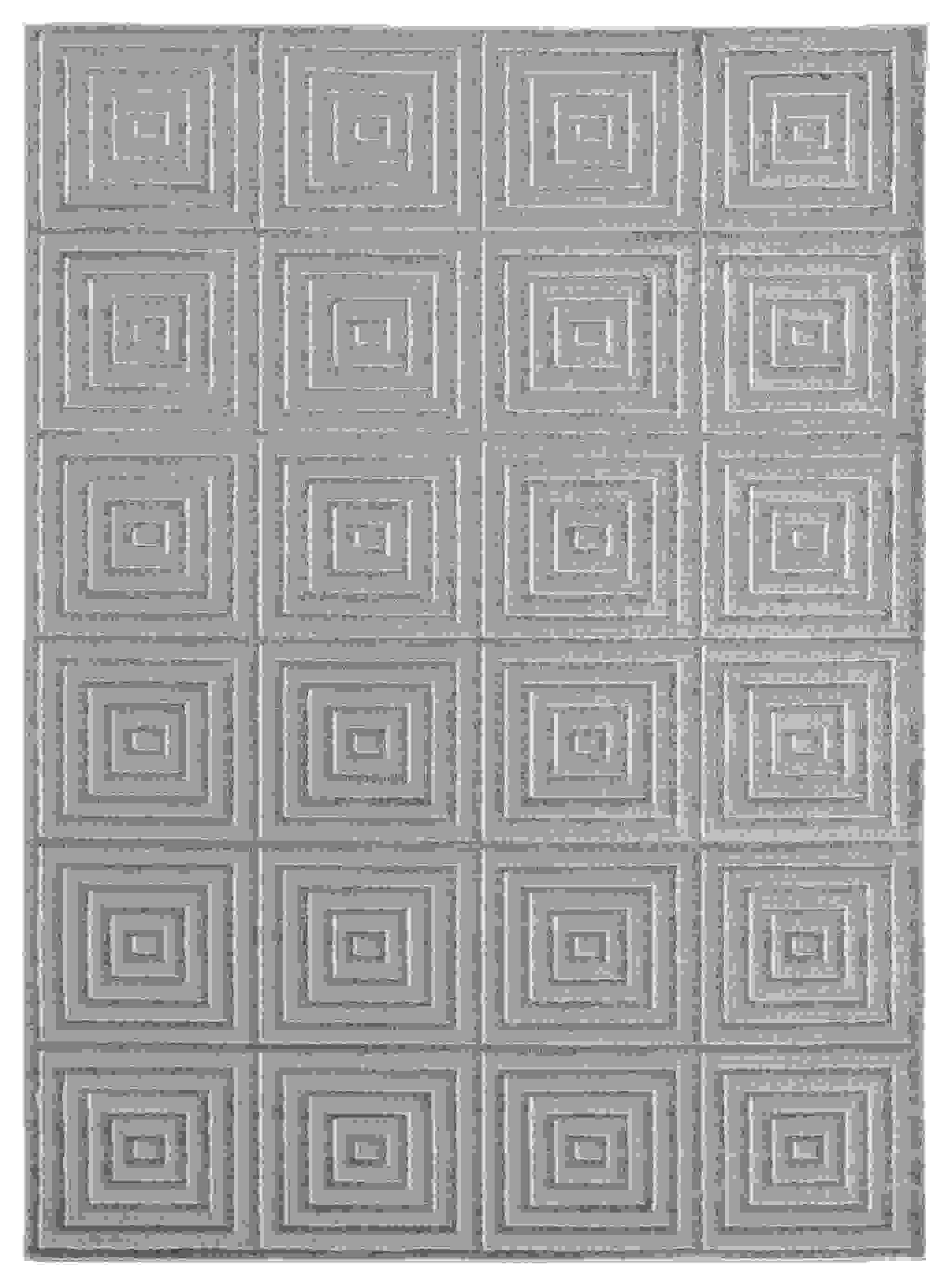 "63"" x 86"" Blue / Grey Polyester / Olefin Area Rug"
