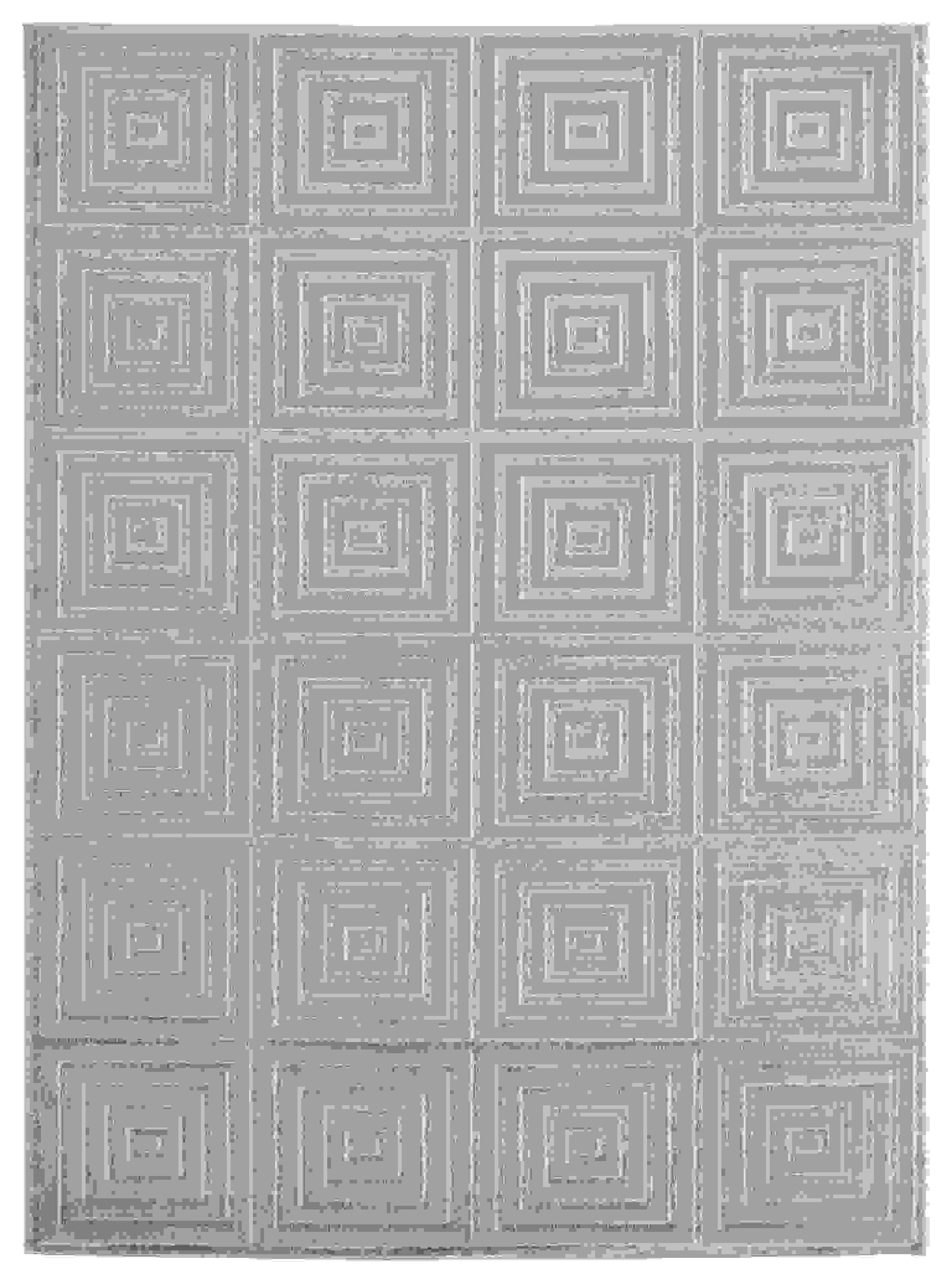 "63"" x 86"" Silver Polyester / Olefin Area Rug"