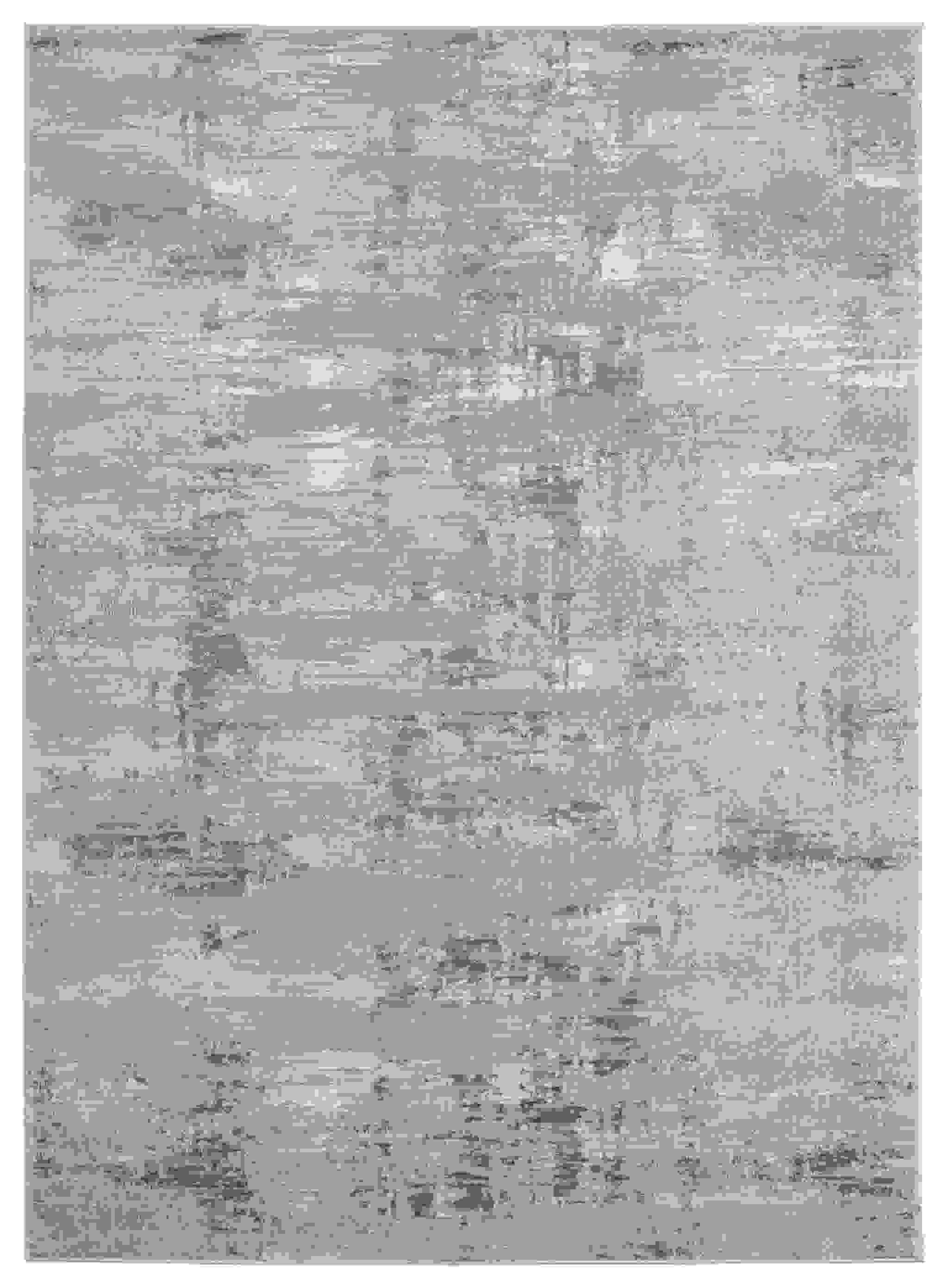 """150"""" x 180"""" Grey Polyester / Olefin Oversize Rug"""
