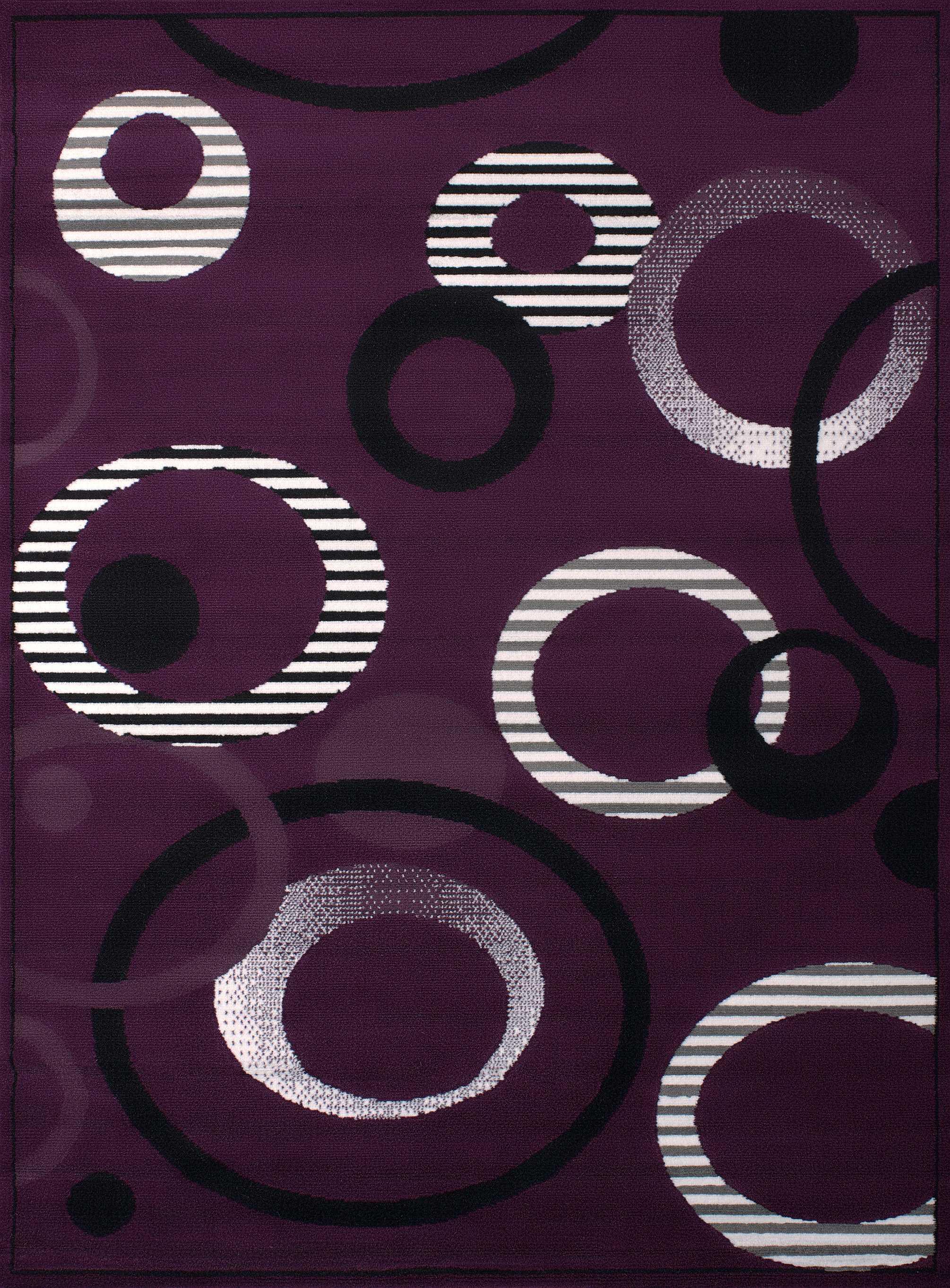 """94"""" x 126"""" Lilac Polypropyelene Oversize Rug"""
