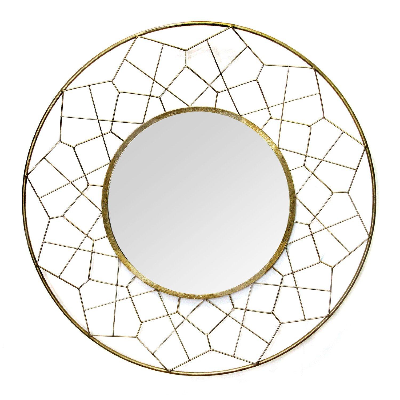 """2.17"""" Round Gold Mirror"""