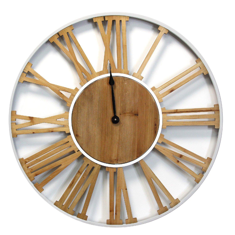 """29"""" Franklin Wood & Metal Clock"""