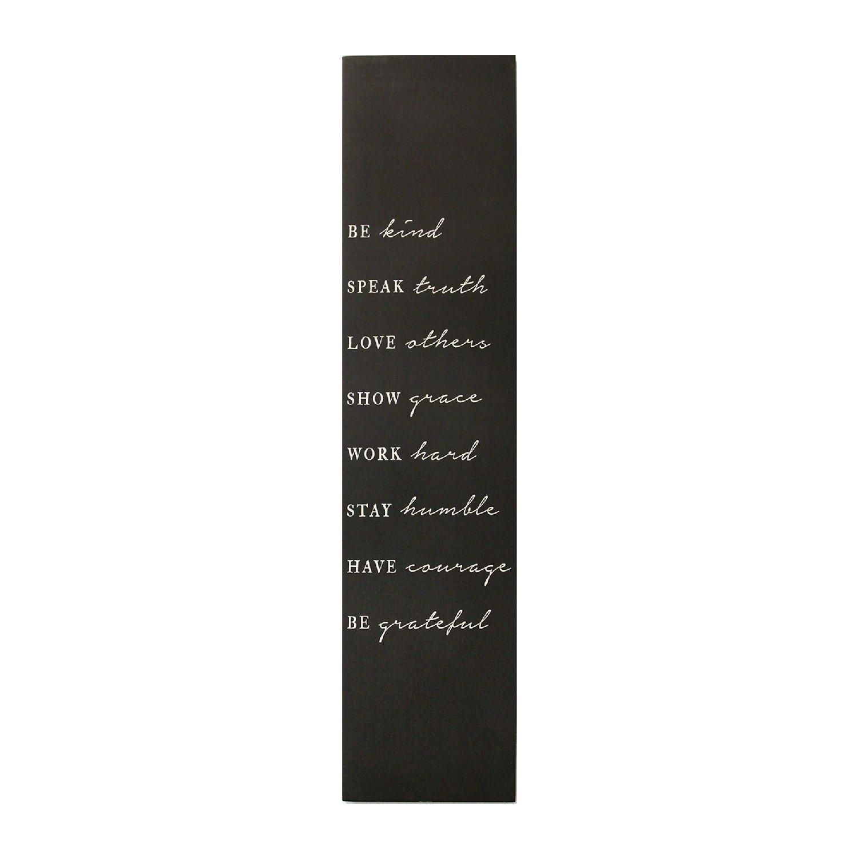 "Matte Black ""Be Kind"" Wall Decor"