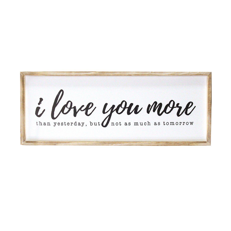 I Love You More Wood Framed Wall Art