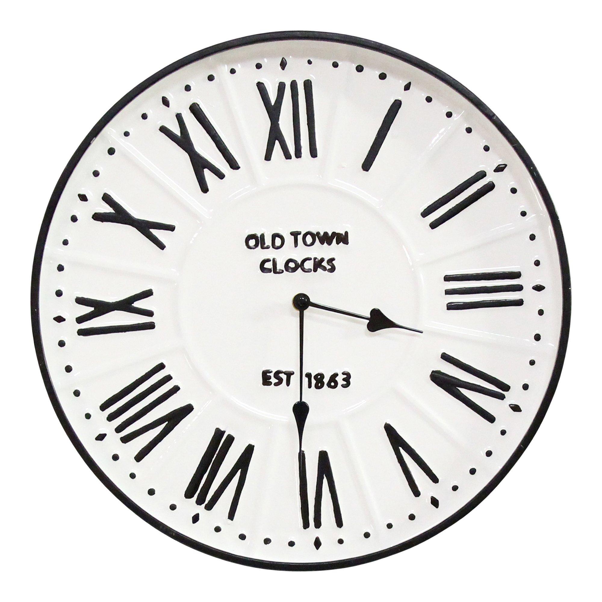 """16"""" Metal Enamel Parker Wall Clock"""