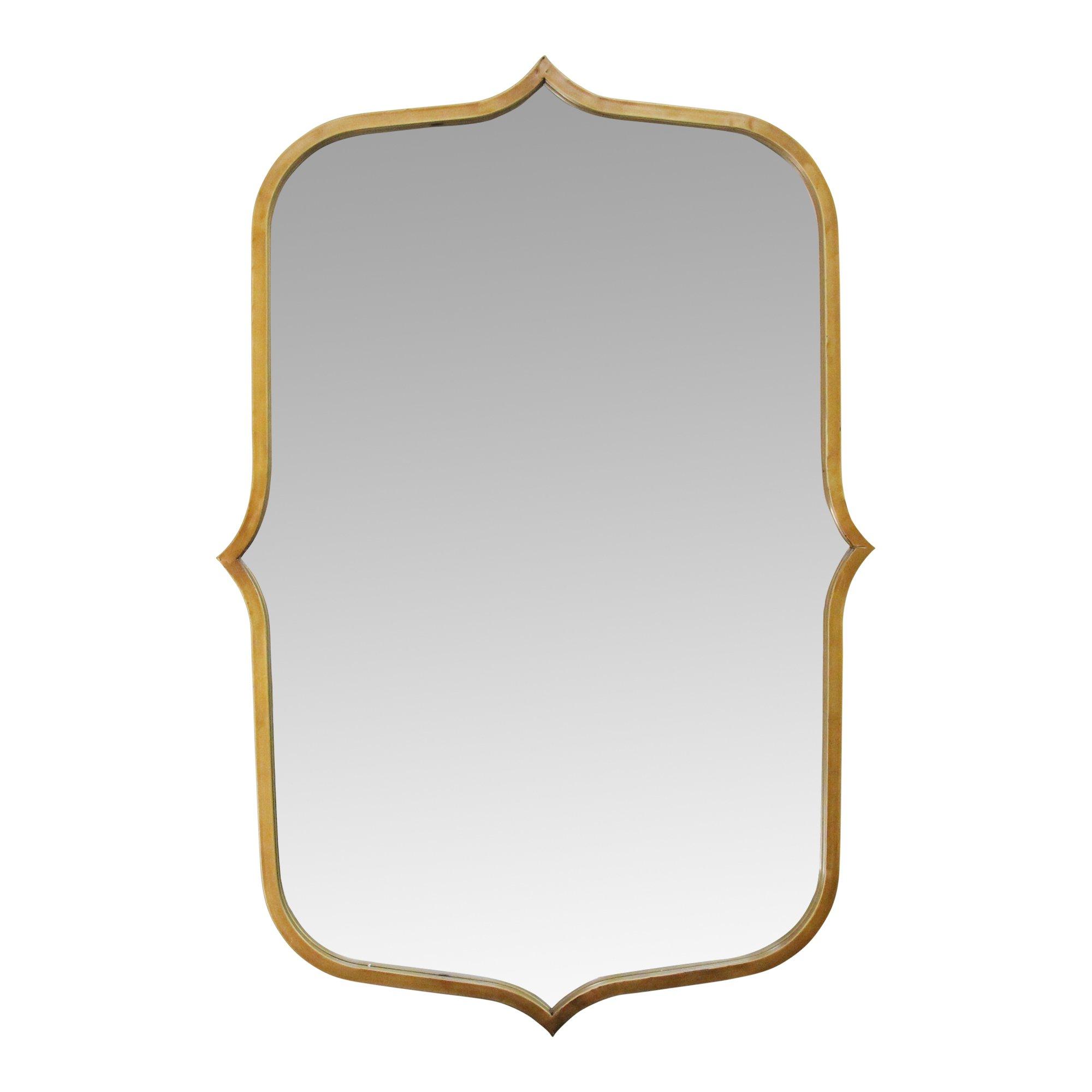 "36"" Hillary Antique Gold Metal Framed Mirror"