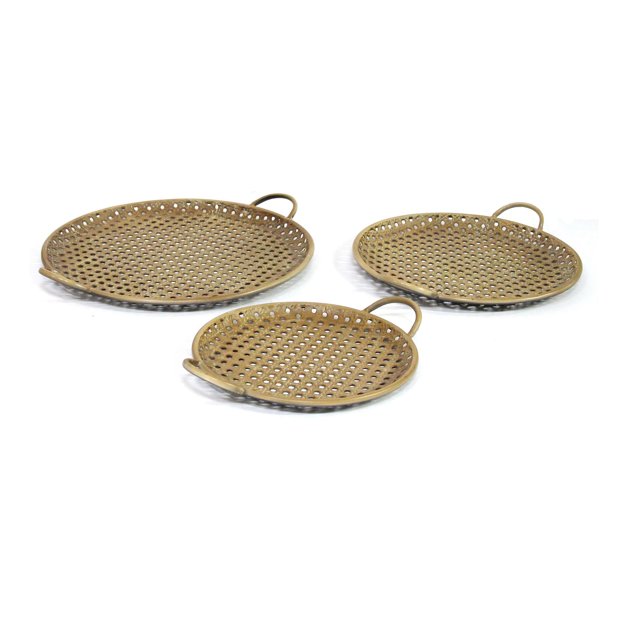 S 3 Carribean Decorative Metal Trays