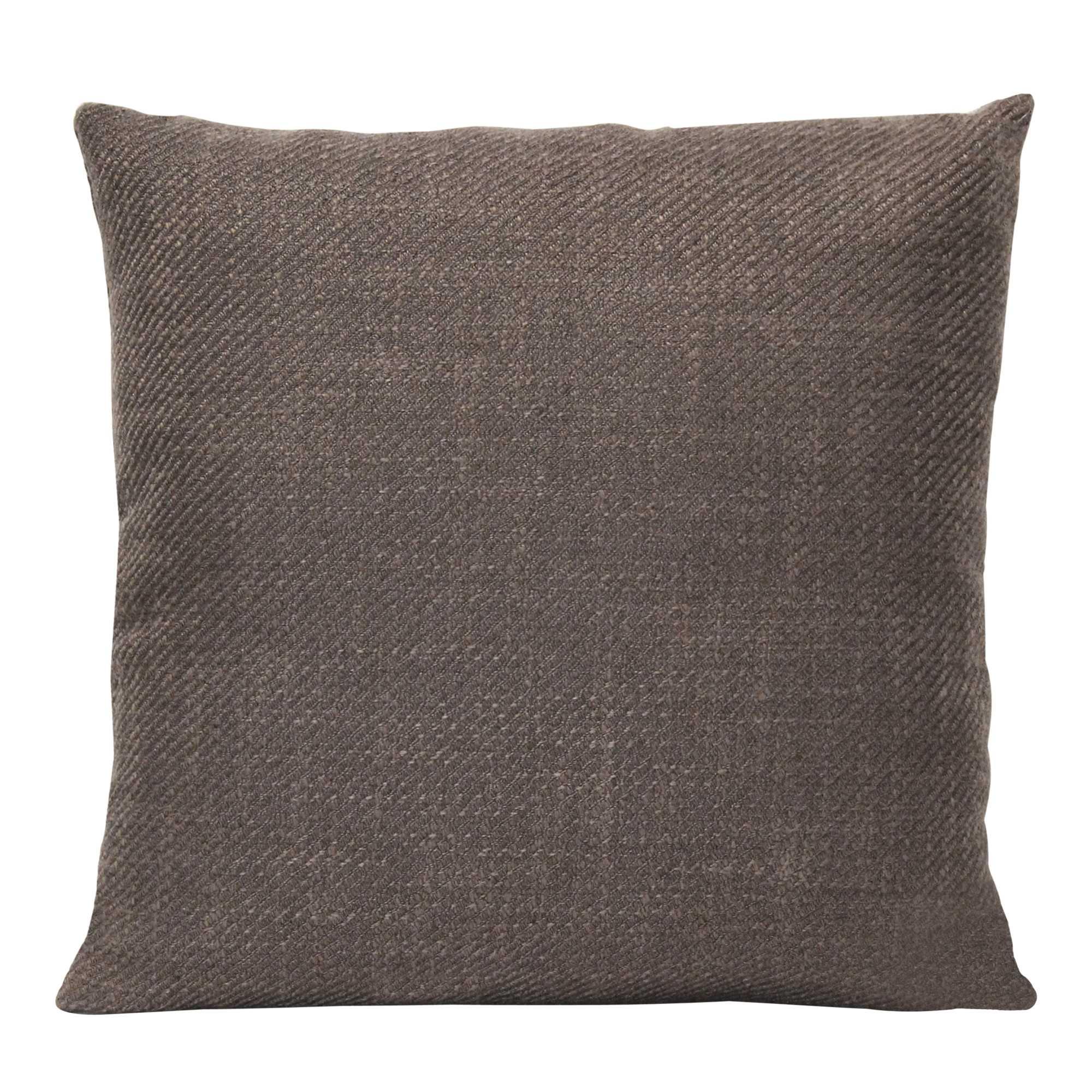 Mocha Brown Tweed Textured Velvet Square Pillow