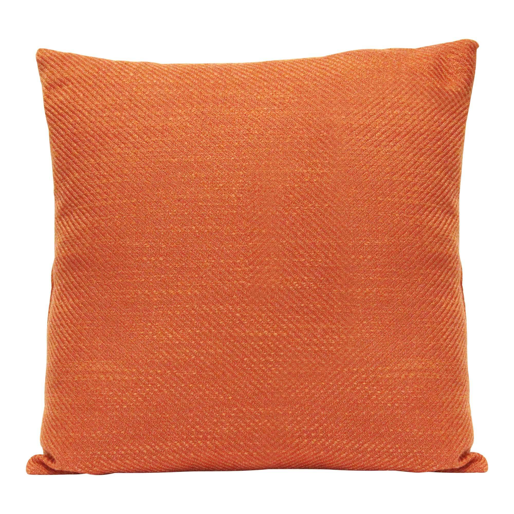 Burnt Orange Tweed Textured Velvet Square Pillow