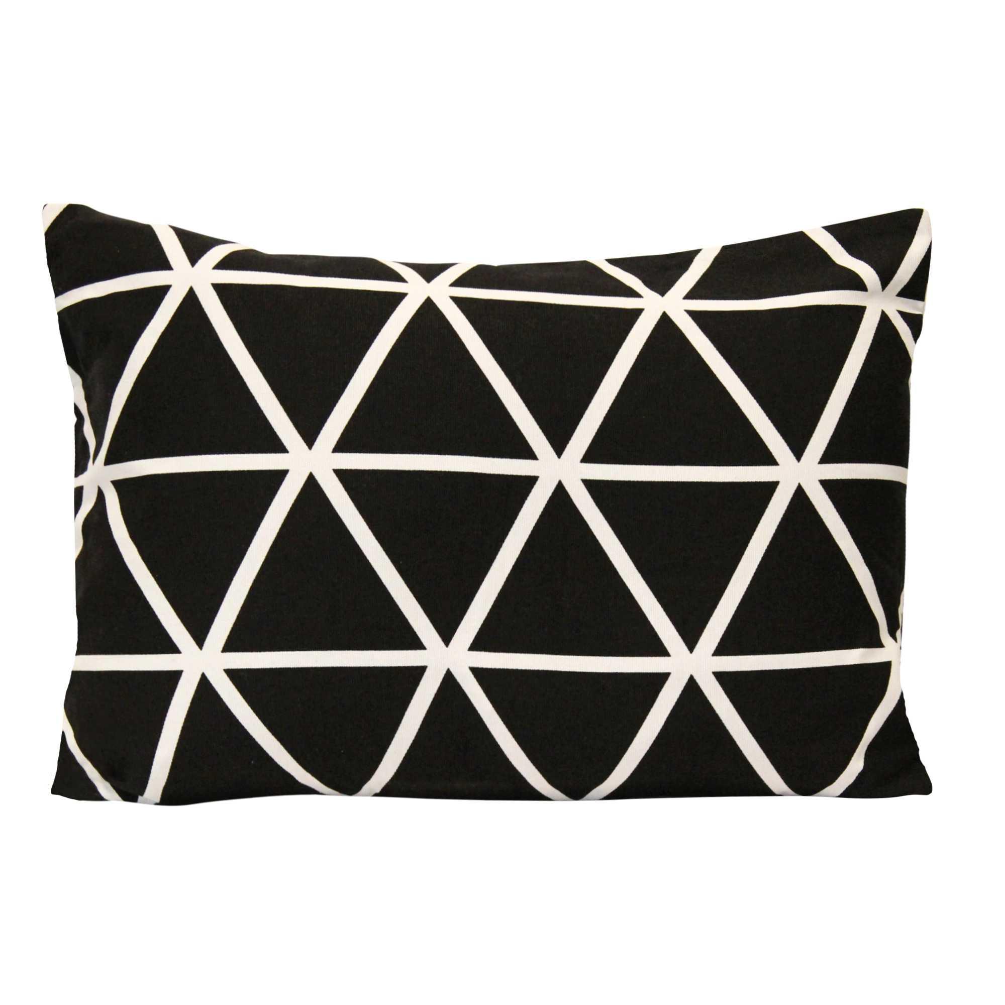 Black & White Geometric Design Lumbar Pillow