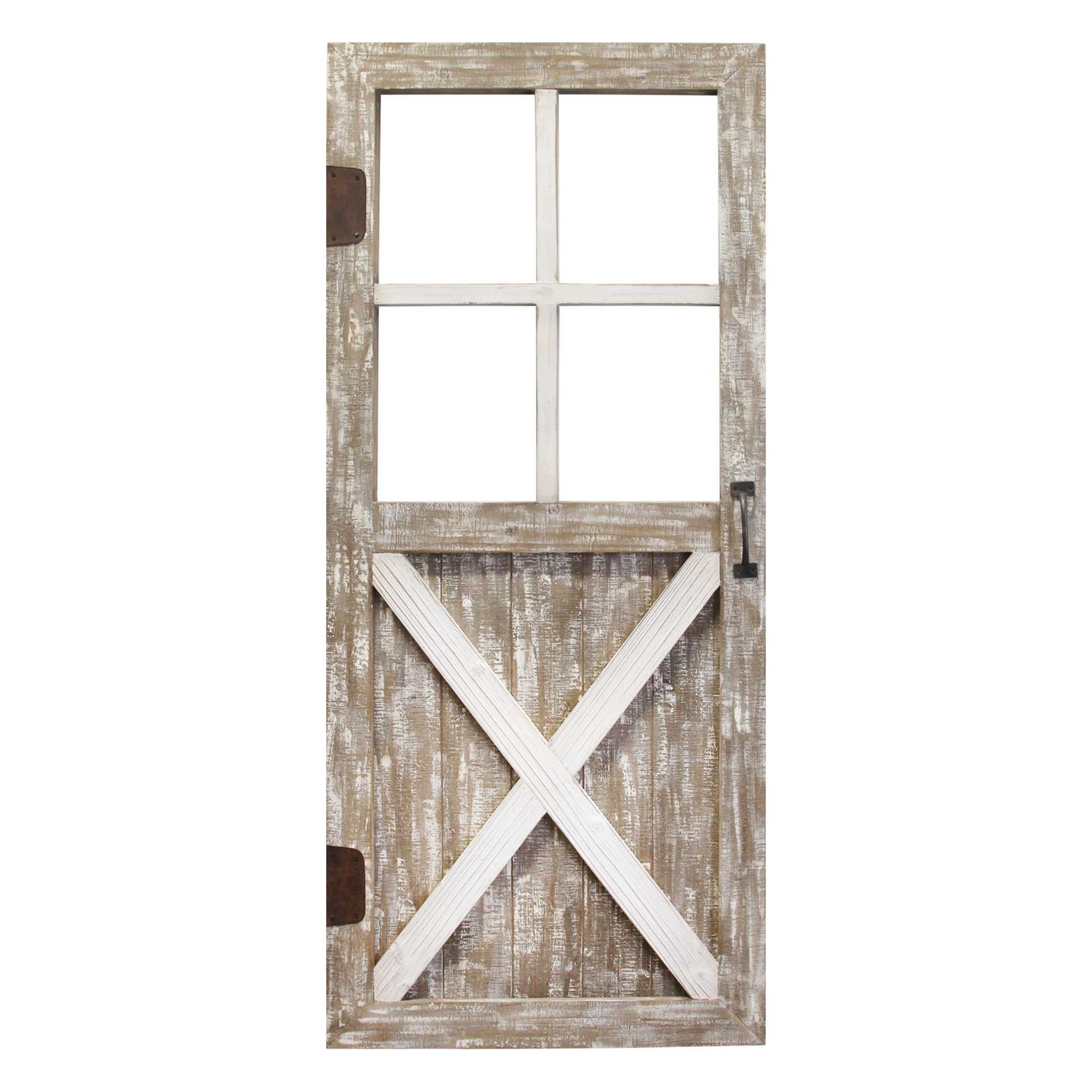 Distressed Wood Framed Barn Door Home Decor