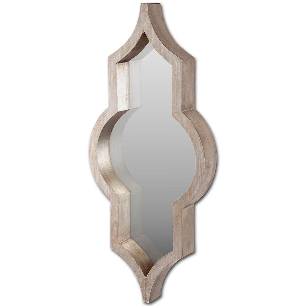 Brown Wood Frame Wall Mirror