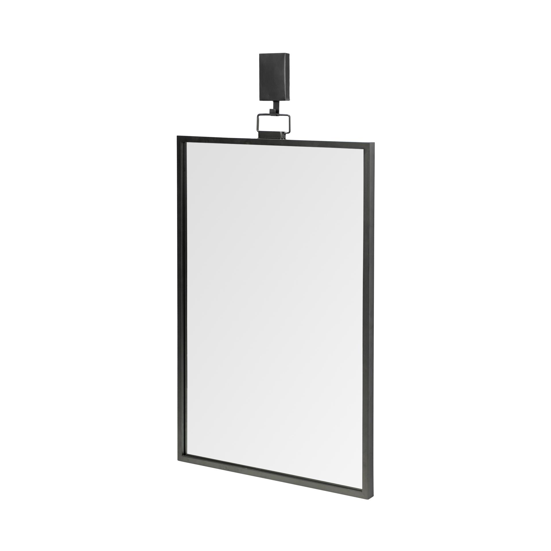 Rectangular Black Metal Frame Wall Mirror