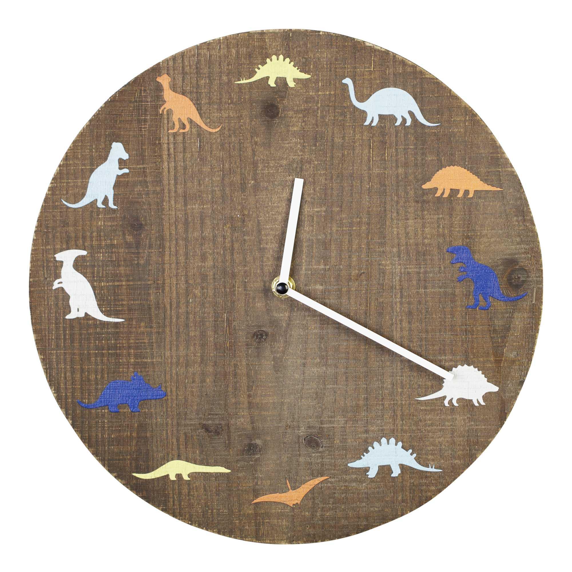 "12"" Round Dinosaur Theme Wall Clock"
