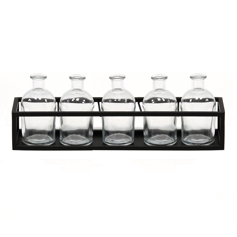 6 Piece Glass Vase Set