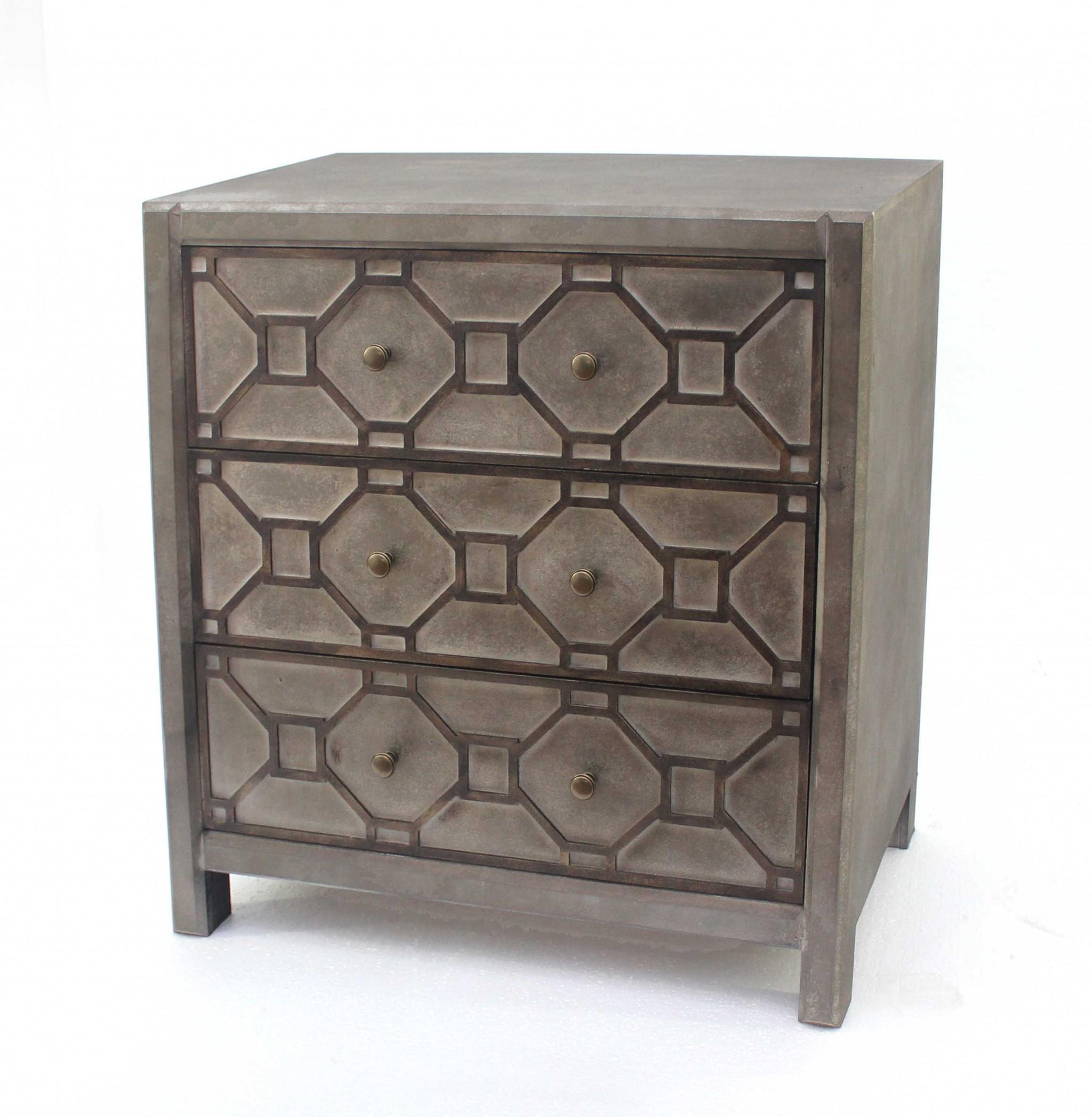 "16"" x 30"" x 31"" Brown, 3 Drawer, Quaint Vintage, Wood - Cabinet"