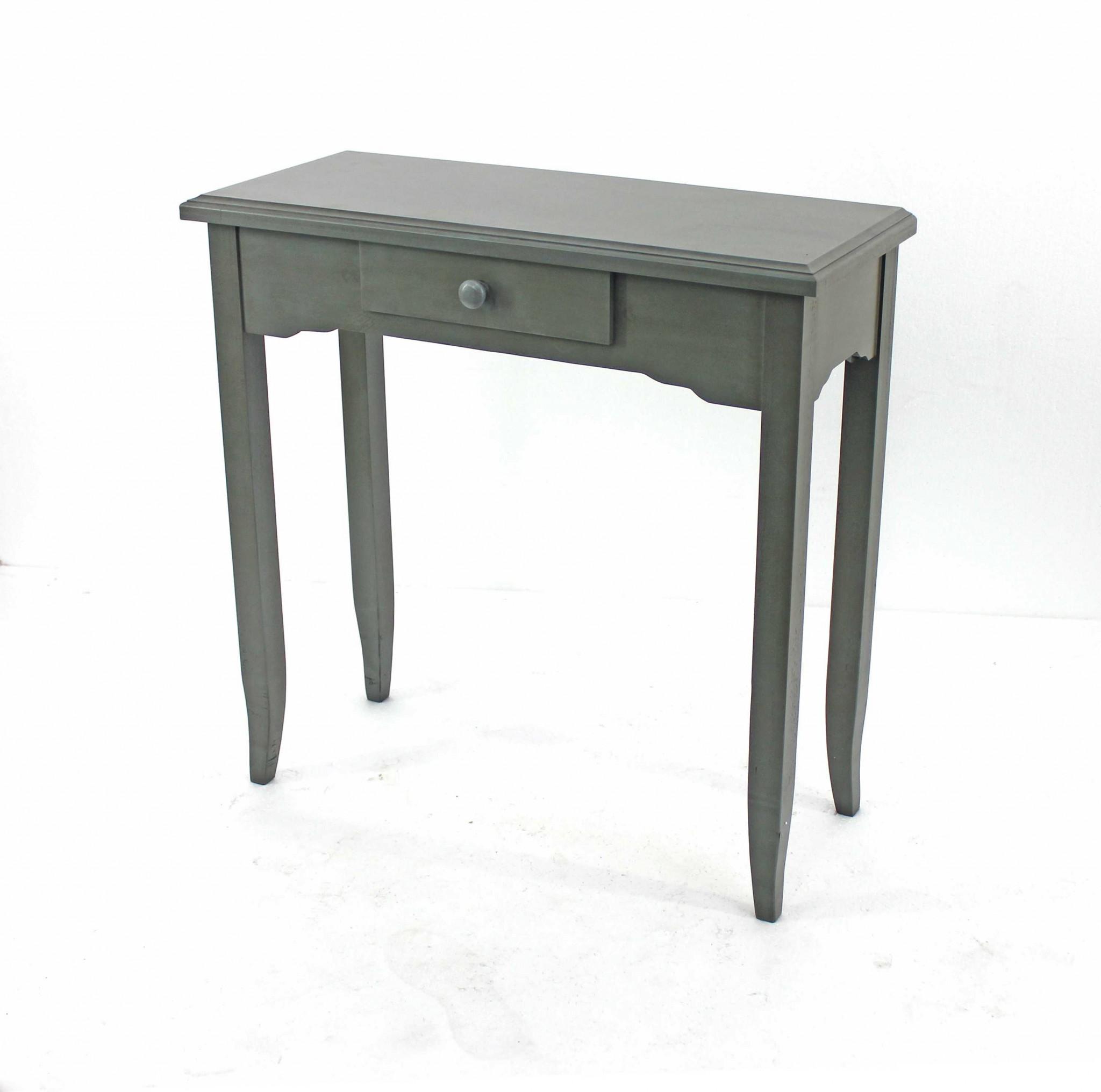 "12"" x 30"" x 30"" Gray, 1 Drawer, Minimalist - Console Table"