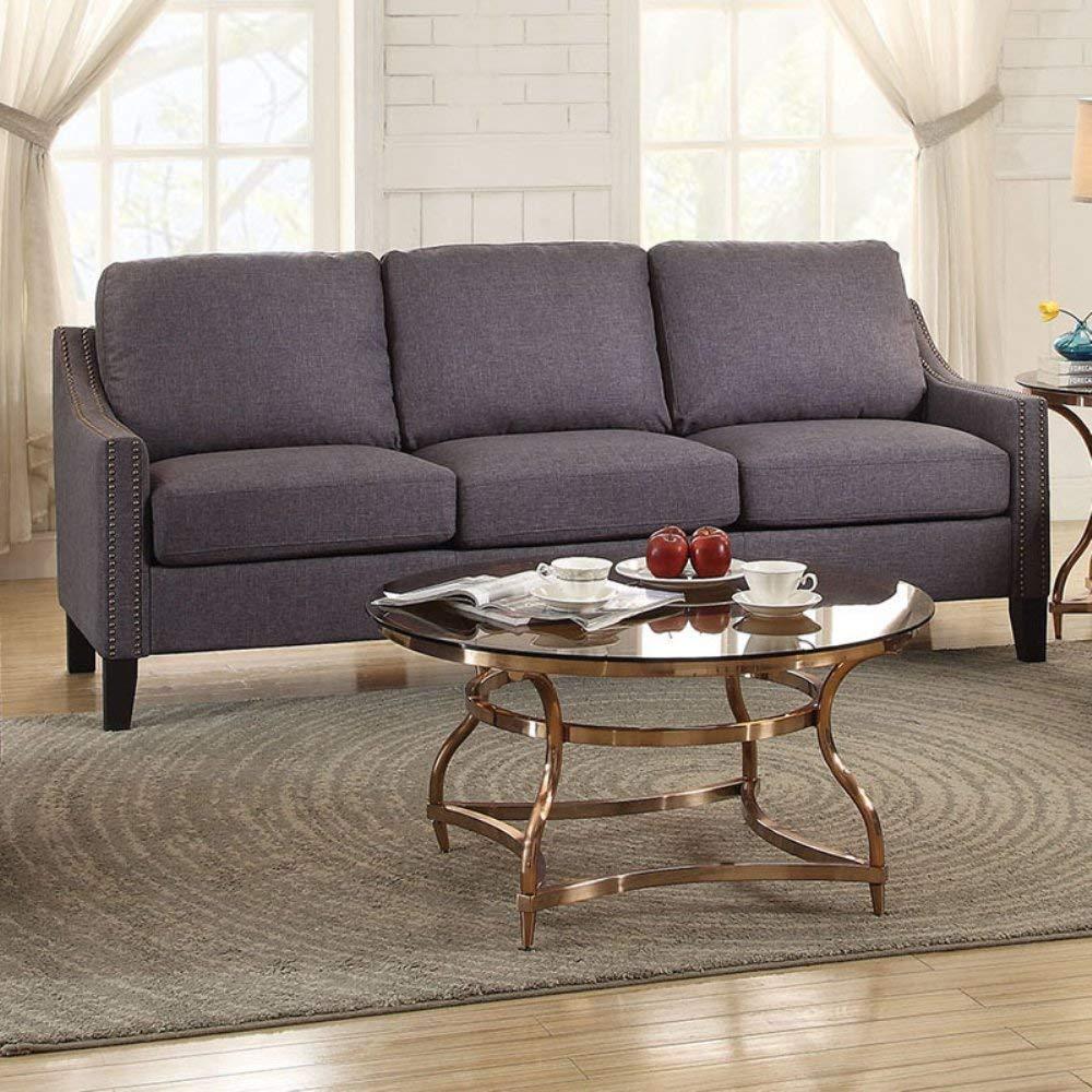 "68"" X 31"" X 36"" Gray Linen Sofa"