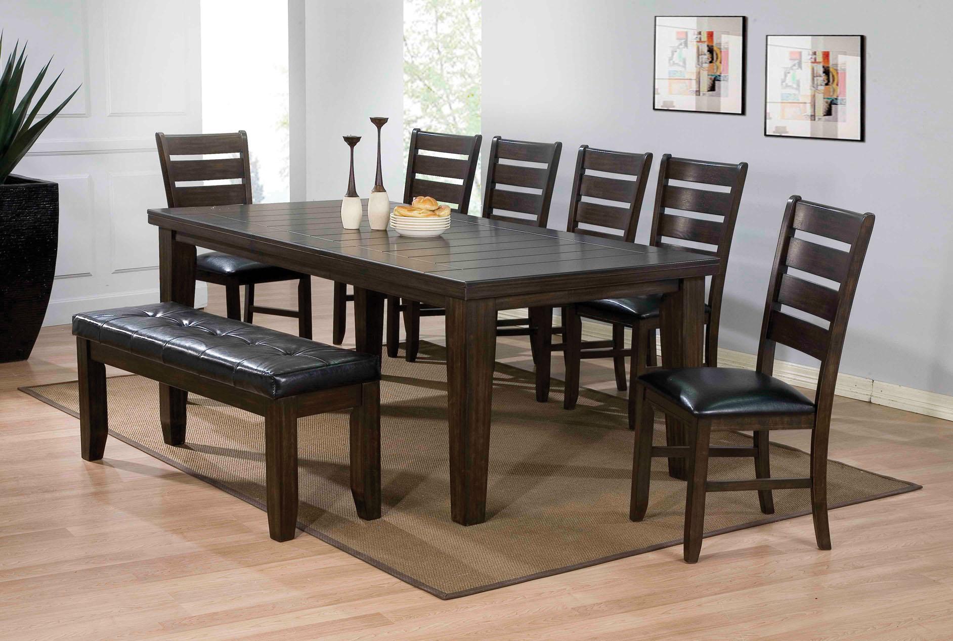 "42"" X 48-66"" Espresso Dining Table"