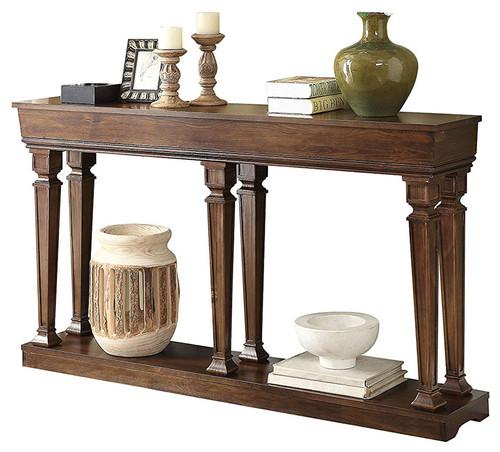 "72"" X 12"" X 35"" Oak Wood Console Table"