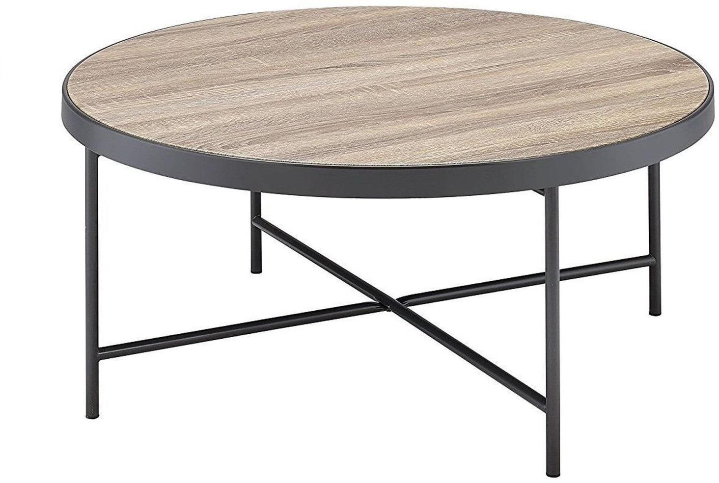 "32.3"" X 32.3"" X 15.75"" Weathered Gray Oak Coffee Table"