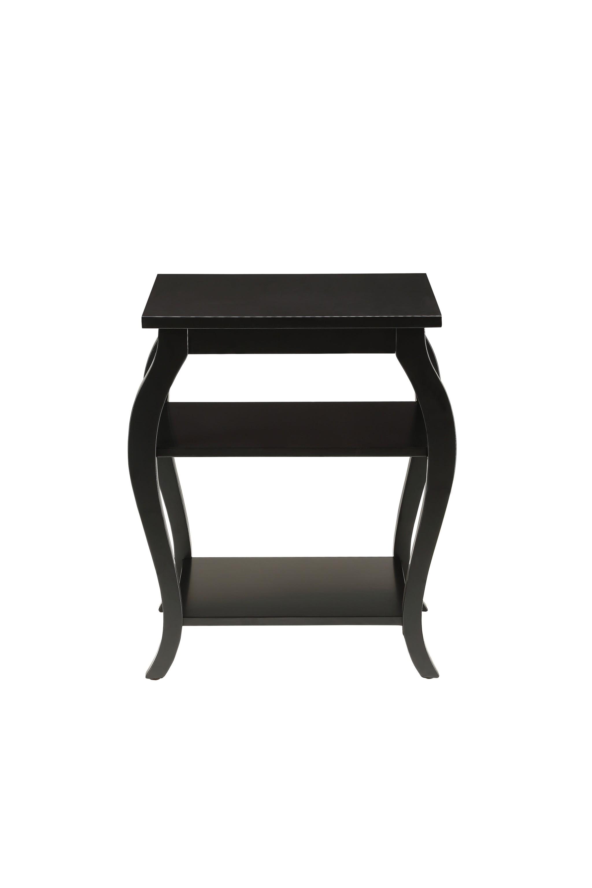 "20"" X 18"" X 23"" Black Solid Wood Leg End Table"