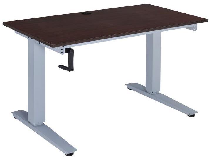 """47.24"""" X 24"""" X 29-48"""" Espresso Paper Veneer Lift Desk"""