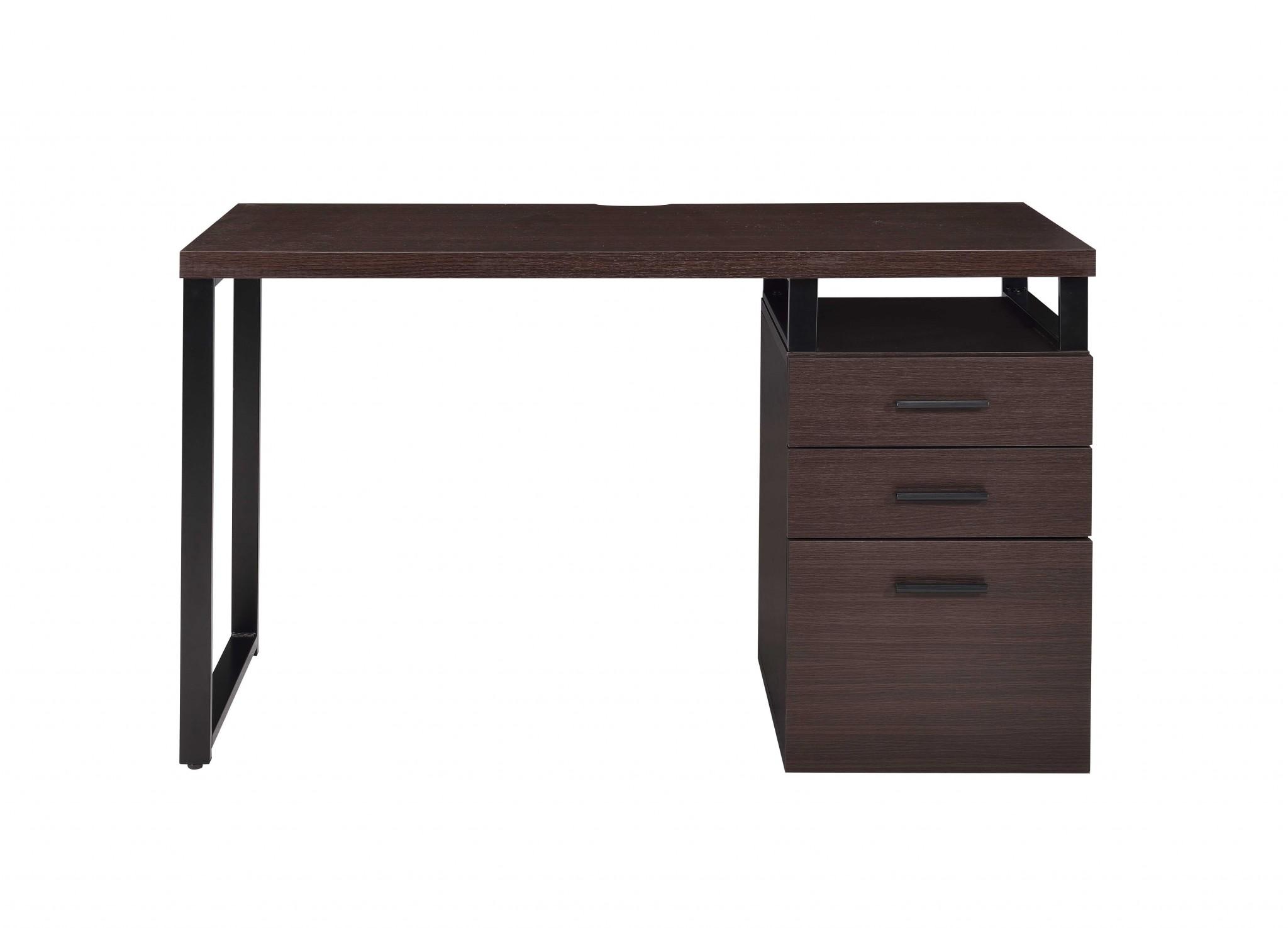 "47"" X 22"" X 28"" Dark Oak Pvc Desk"