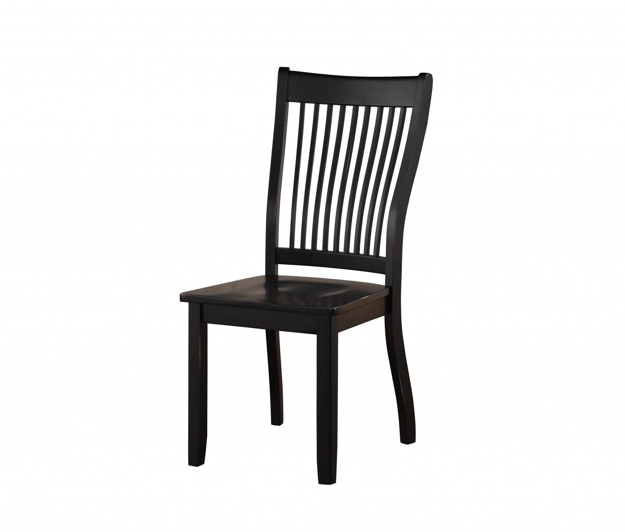 22 x 24 x 39 Black - Side Chair  (Set-2)