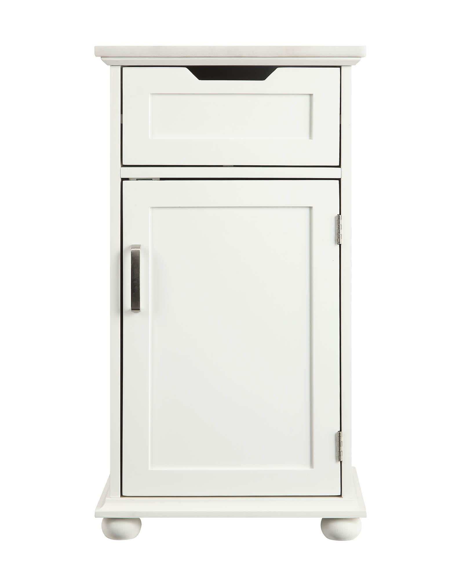 "16"" X 13"" X 30"" White Alluring Cabinet"