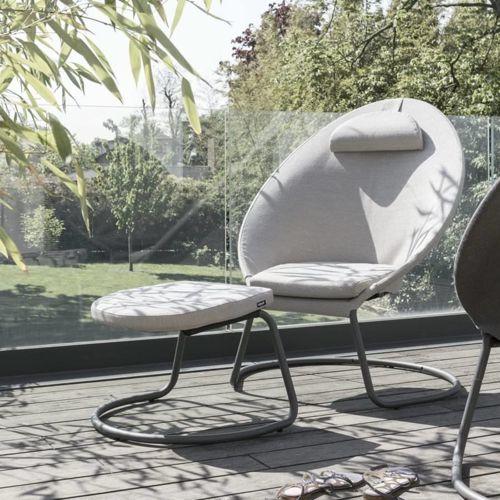 Titane Steel Frame - Latte Hedona Fabric