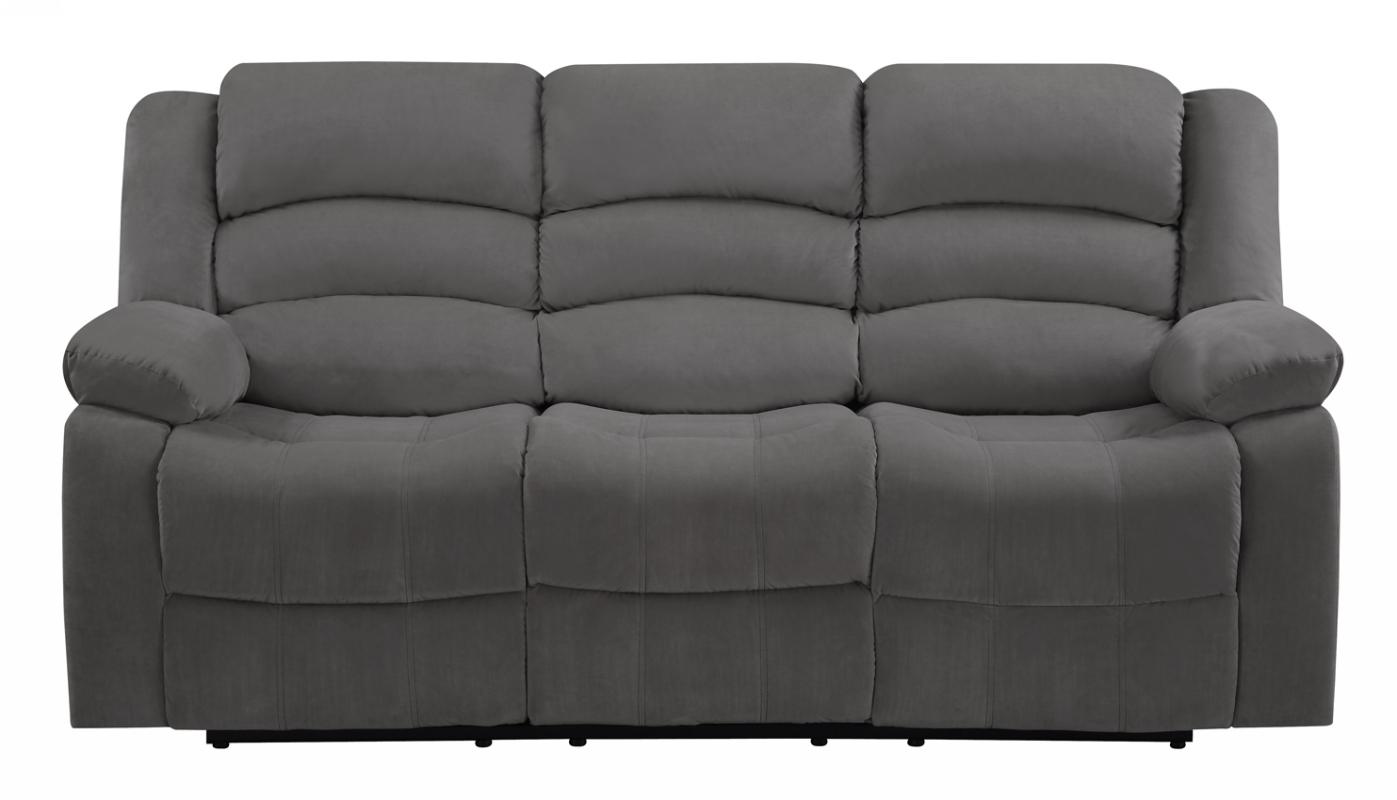 """40"""" Contemporary Grey Fabric Sofa"""