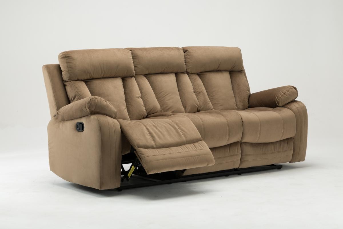 """40"""" Modern Beige Fabric Sofa"""