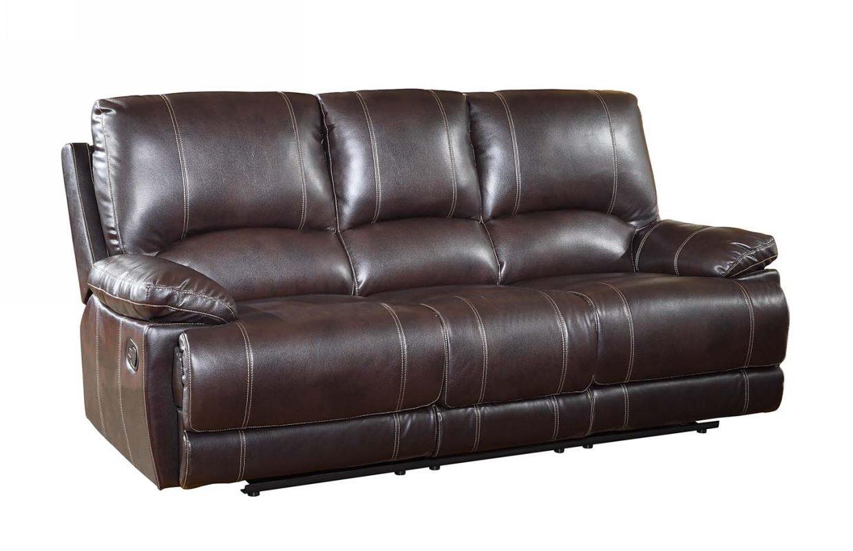 "41"" Stylish Brown Leather Sofa"