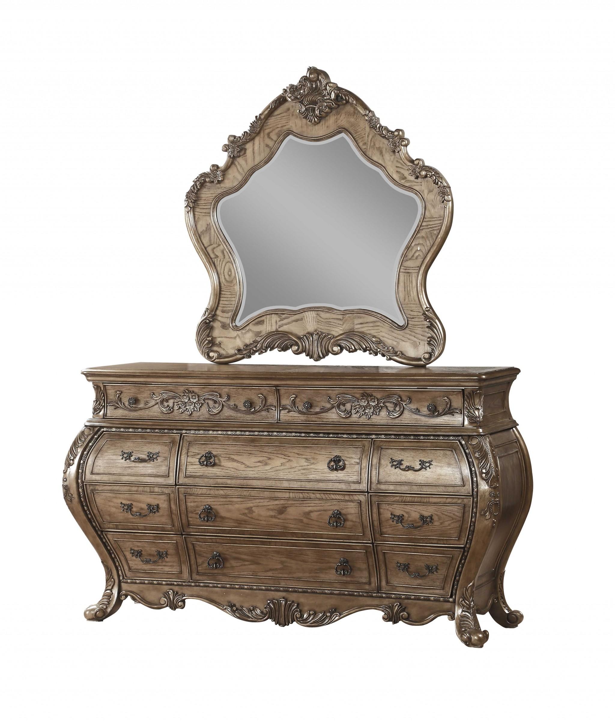 "23"" X 73"" X 41"" Vintage Oak Wood Dresser"