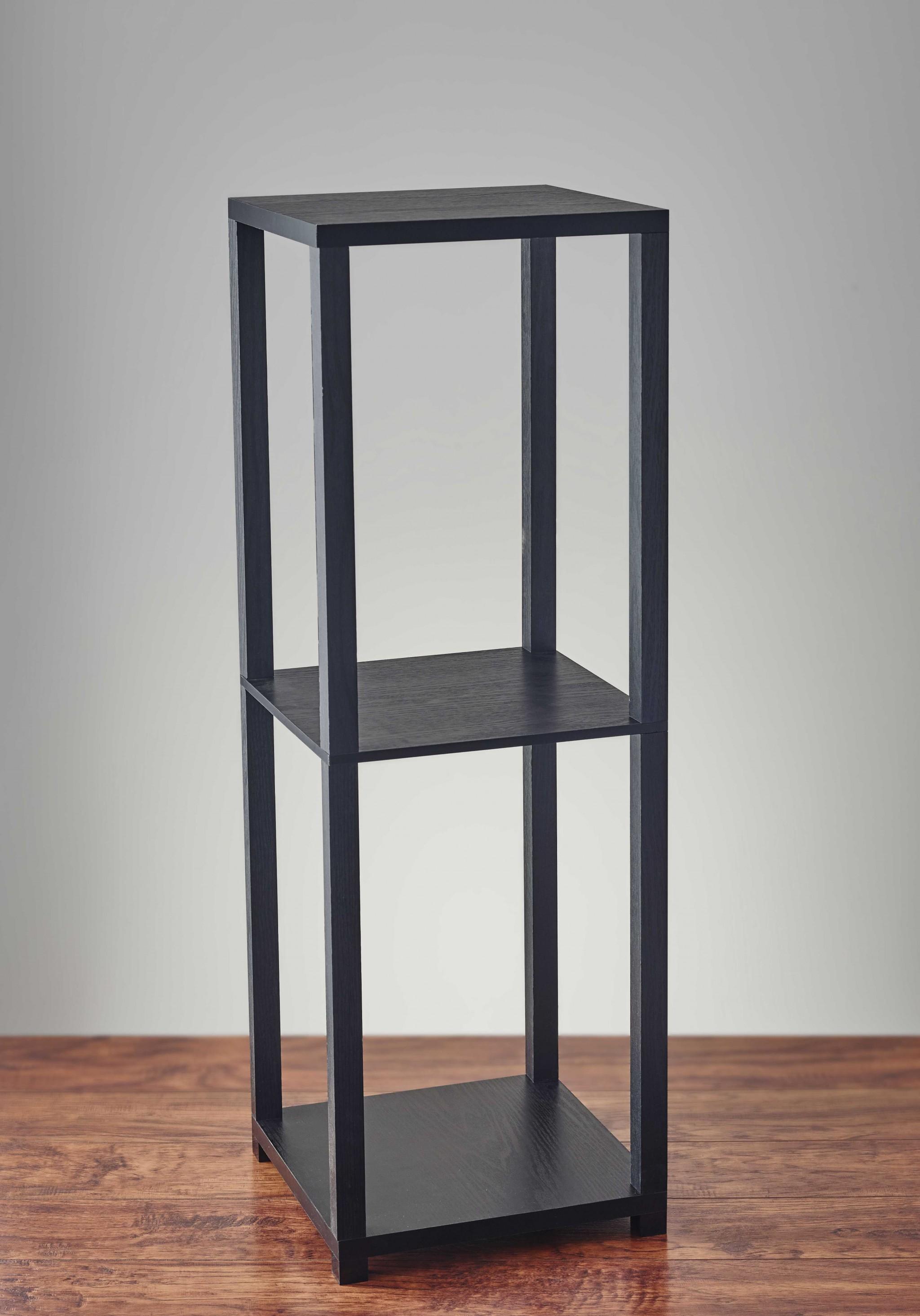"""11.5"""" X 11.5"""" X 34.75"""" Black Black wood PVC Finish Tall Pedestal"""
