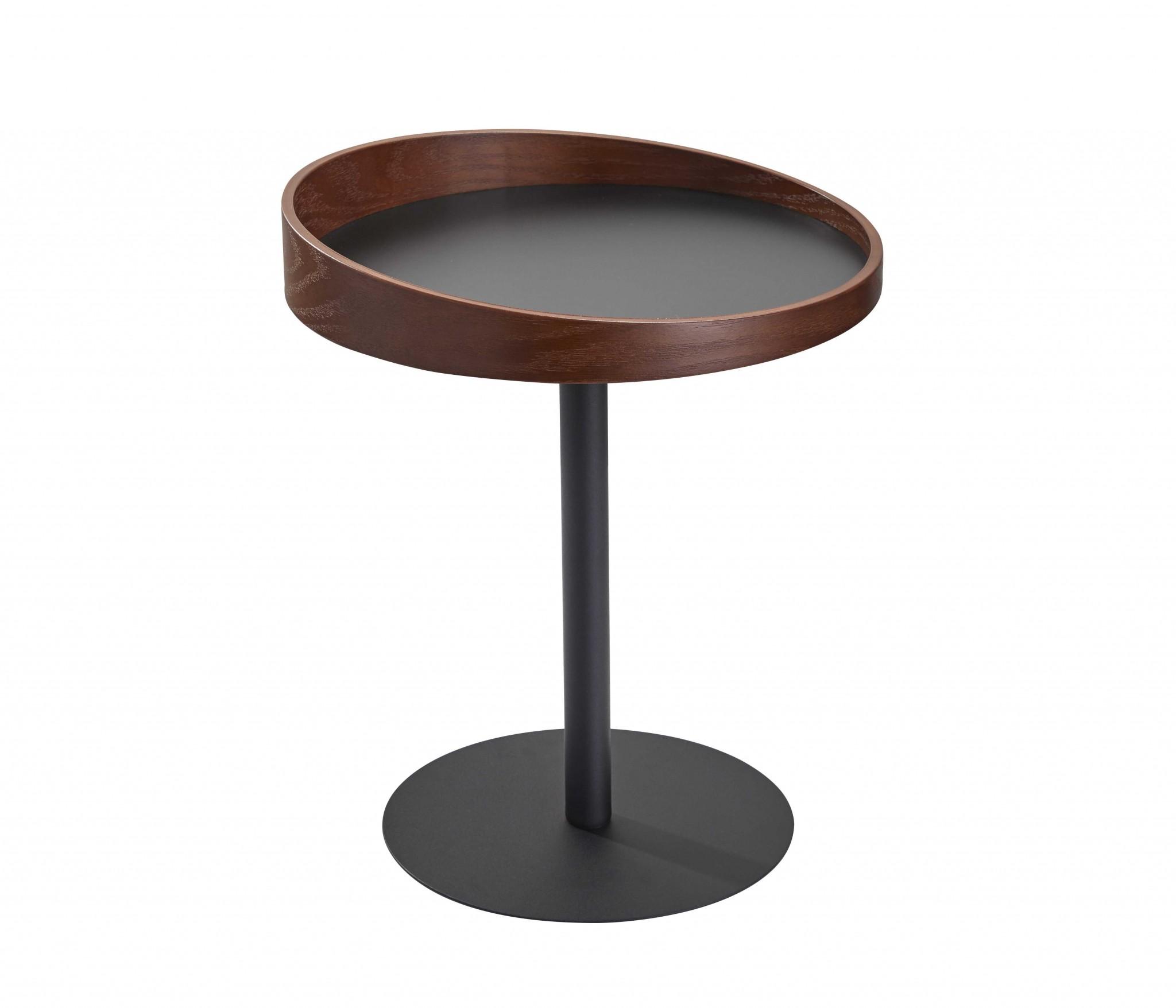 "18"" X 18"" X 20-21.5"" Black  End Table"