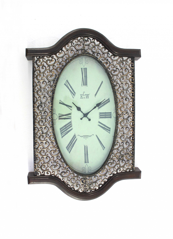 Bronze Finish Wooden Vintage Wall Clock