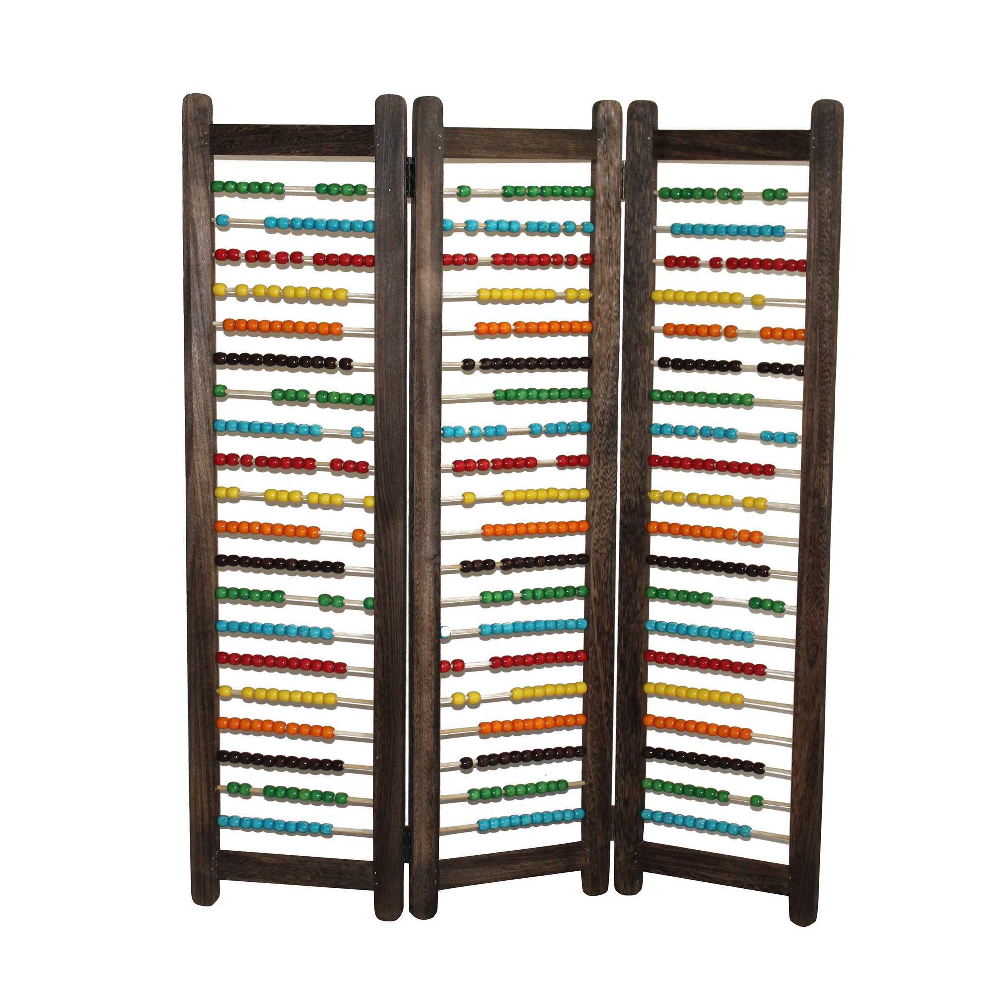 "1"" x 35"" x 43"" Multi Color Wood  Screen"