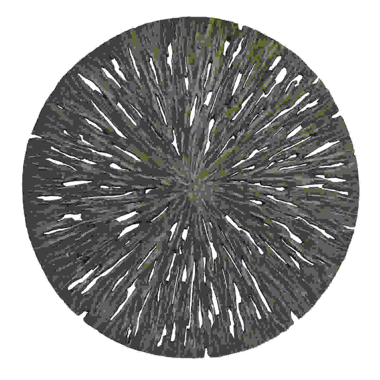 "1"" x 14"" x 14"" Brown Round Rotten Wood  Wall Decor"