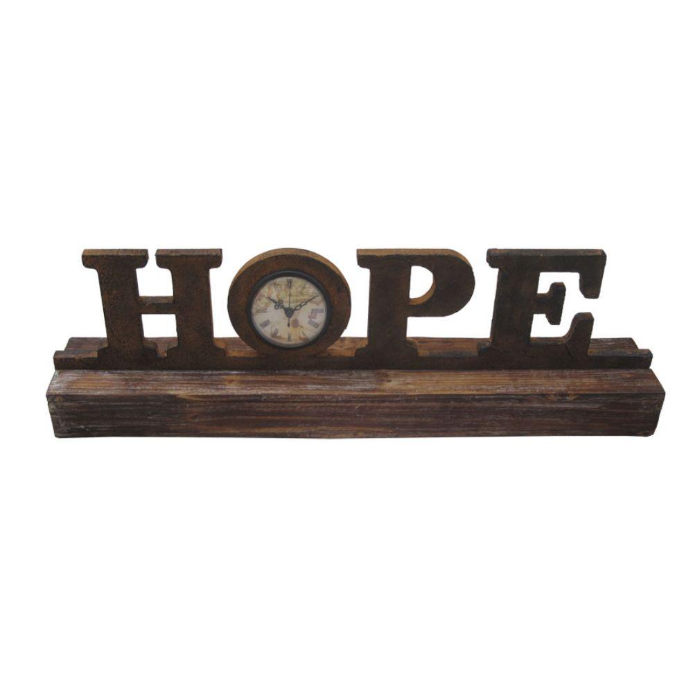 "1"" x 23"" x 3"" Brown Wood Decor  Clock"