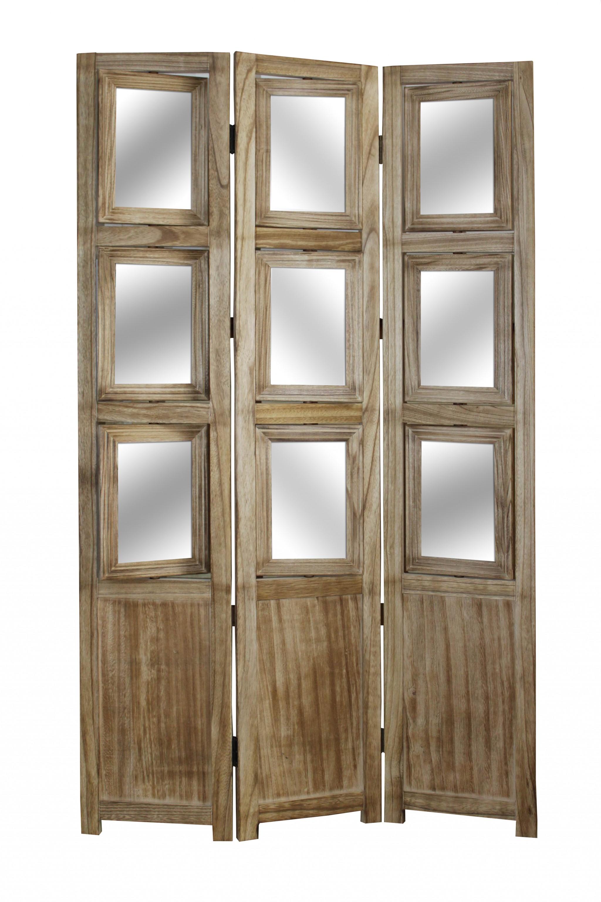 "1"" x 39"" x 63"" Brown Wood Photo  Screen"