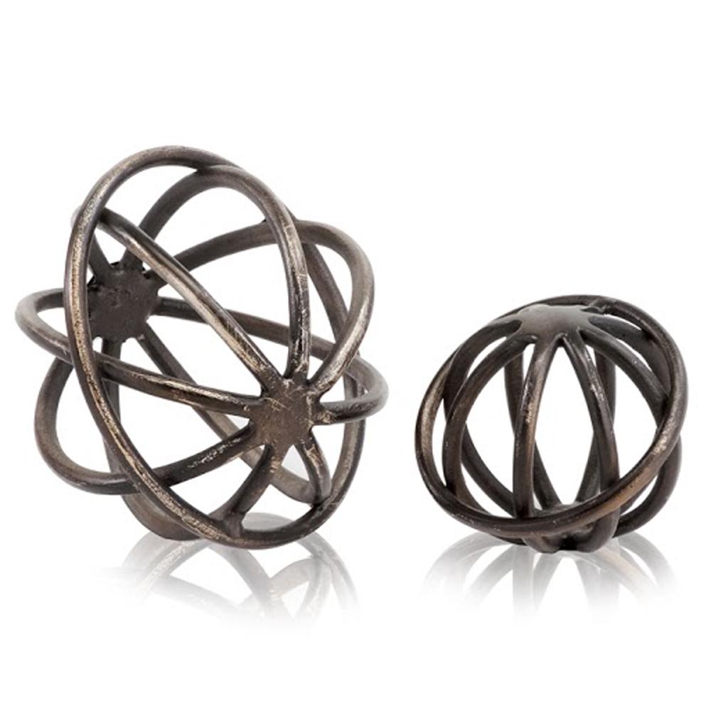 "6"" x 6"" x 5"" Bronze Small Sphere"
