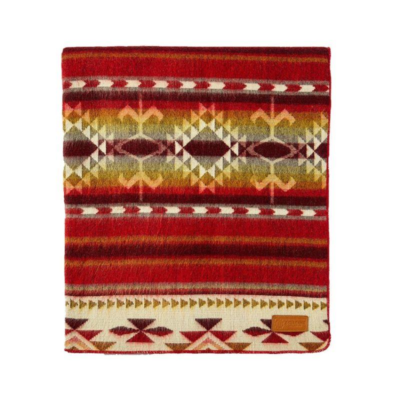 Ultra Soft Southwestern Red Hot Handmade Woven Blanket