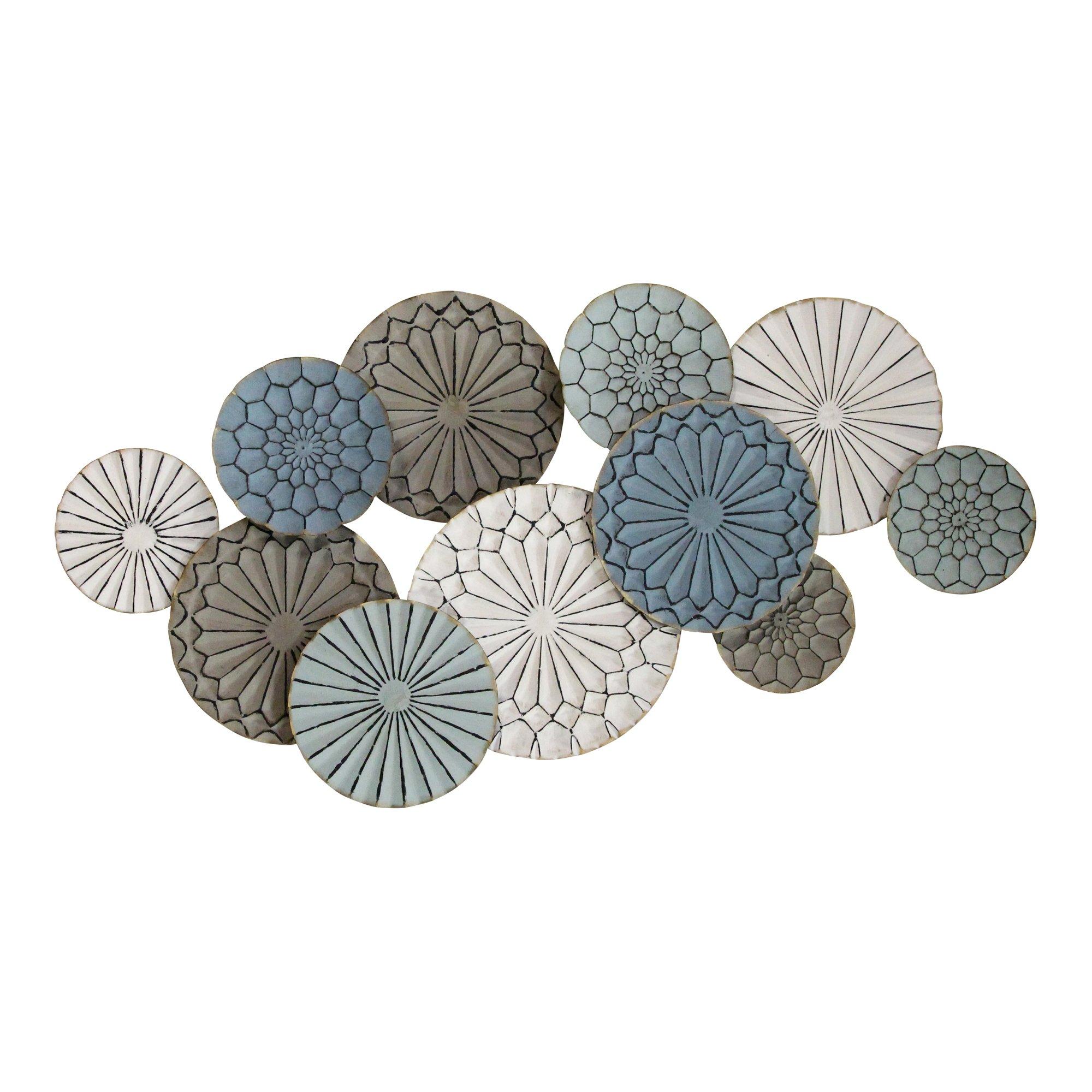 Boho-Inspired Metal Plates Wall Decor