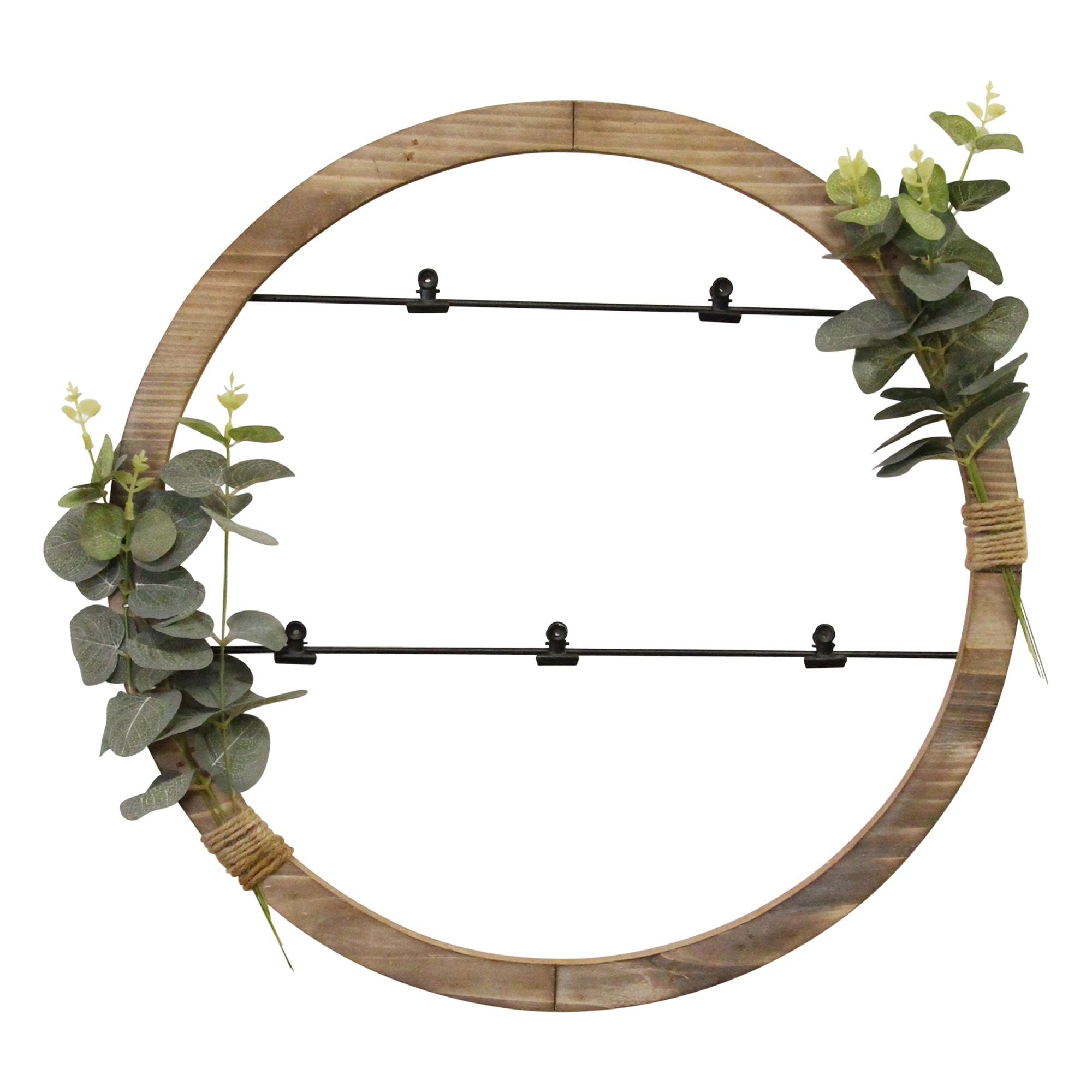 Eucalyptus Photo Holder Wood Framed Wall Art